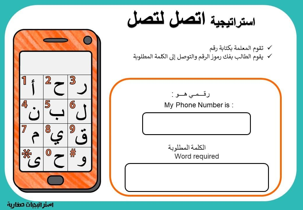 استراتيجية اتصل لتصل لتعليم الطلاب بطريقة تفاعلية وممتعة Gaming Logos Phone Numbers Words