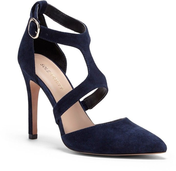 navy suede pumps perfect for a fall wedding // Sole Society