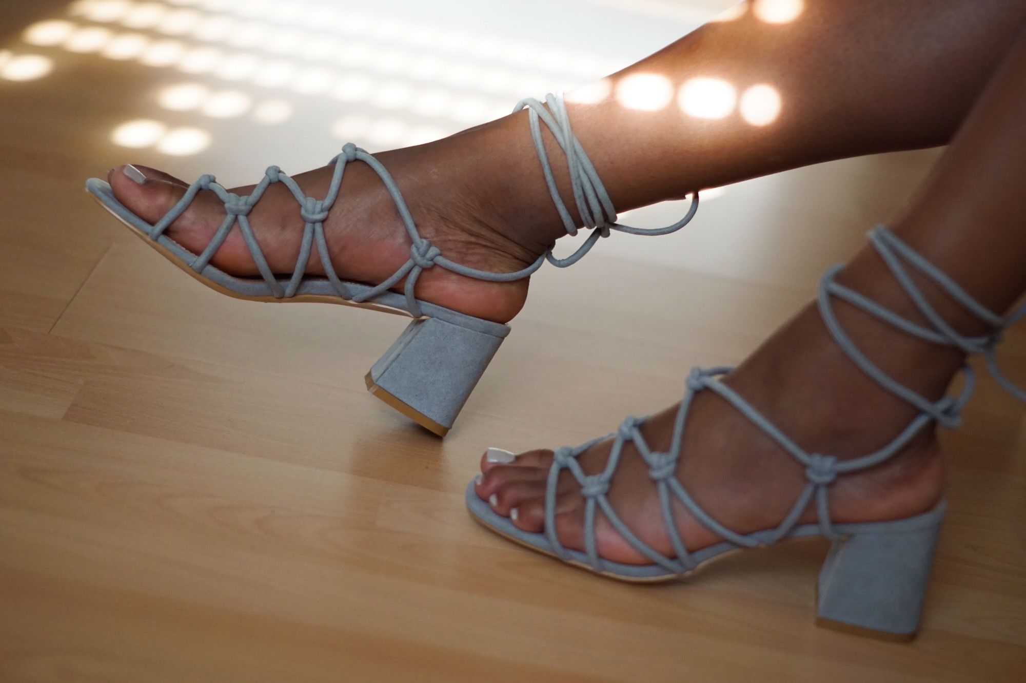 3502921195b Public Desire - Freya Knotted Block Heeled Strappy Sandals   Trend 2017   Strappy  Sandals