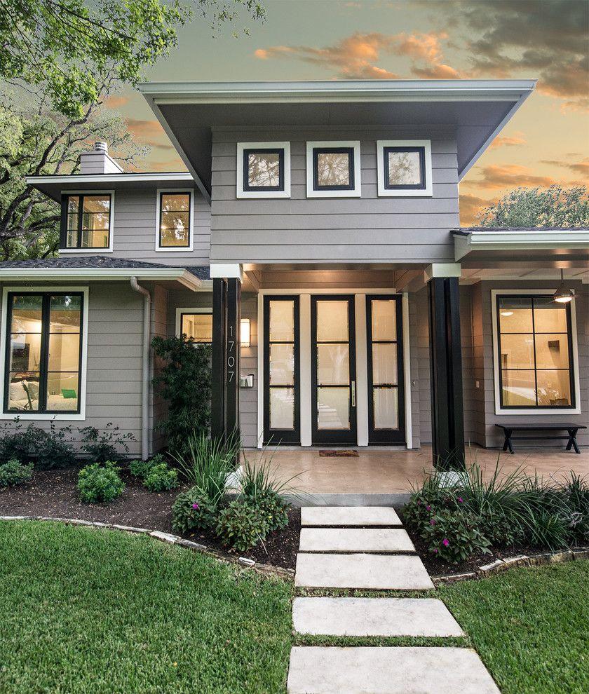 Modern Exterior Window Trim window-trim-ideas-exterior-transitional-with-shingle-roof-modern