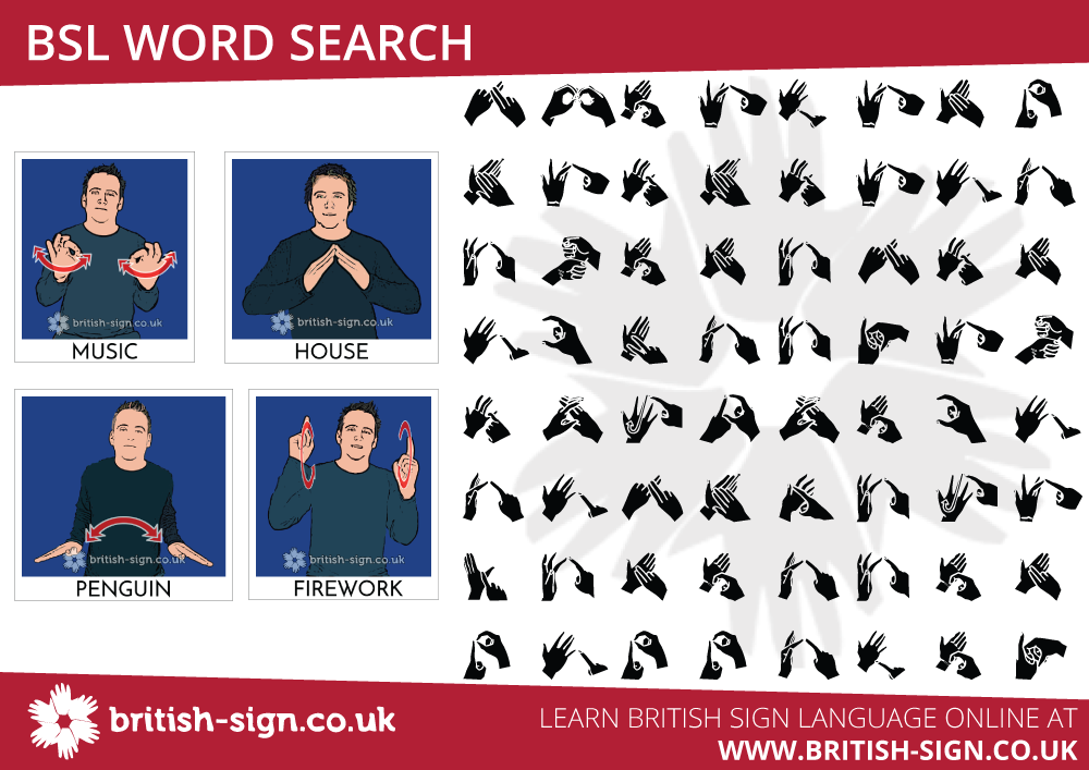 BSL Word Search - Learn British Sign Language - BSL ...