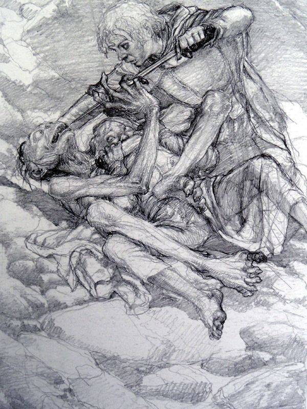 The Lord of the Rings Sketchbook - by Alan Lee (Sam, Frodo and ...