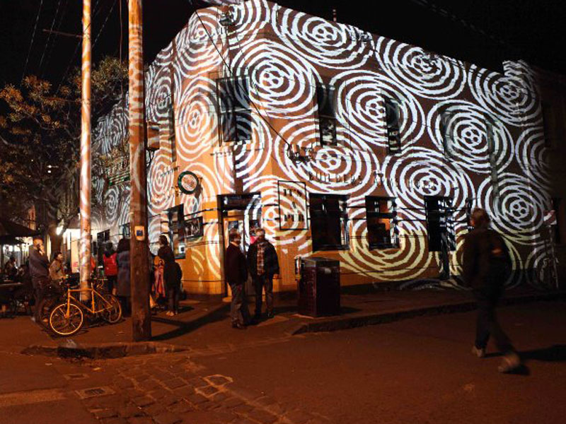 Gertrude Street Light Projection Festival - Melbourne