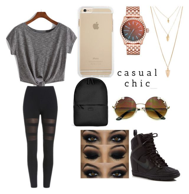 """Untitled #43"" by destiny-hope00 ❤ liked on Polyvore featuring Diesel, Forever 21, NIKE and Rains"