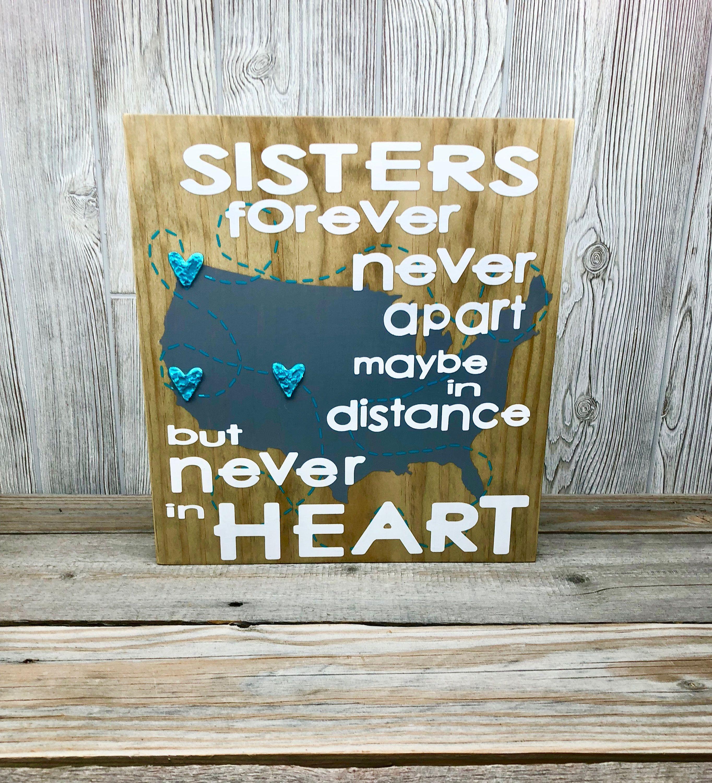 Sister gift idea custom sister gift sister distance sister sister gift idea custom sister gift sister distance sister sign sister quote customized gifts for sister unique gifts for sister negle Choice Image