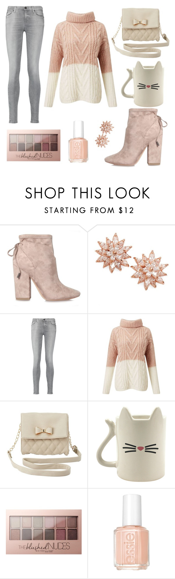 """Design 001"" by kaitlynrose50 ❤ liked on Polyvore featuring Kendall + Kylie, Nina, 7 For All Mankind, Miss Selfridge, Charlotte Russe, Maybelline and Essie"