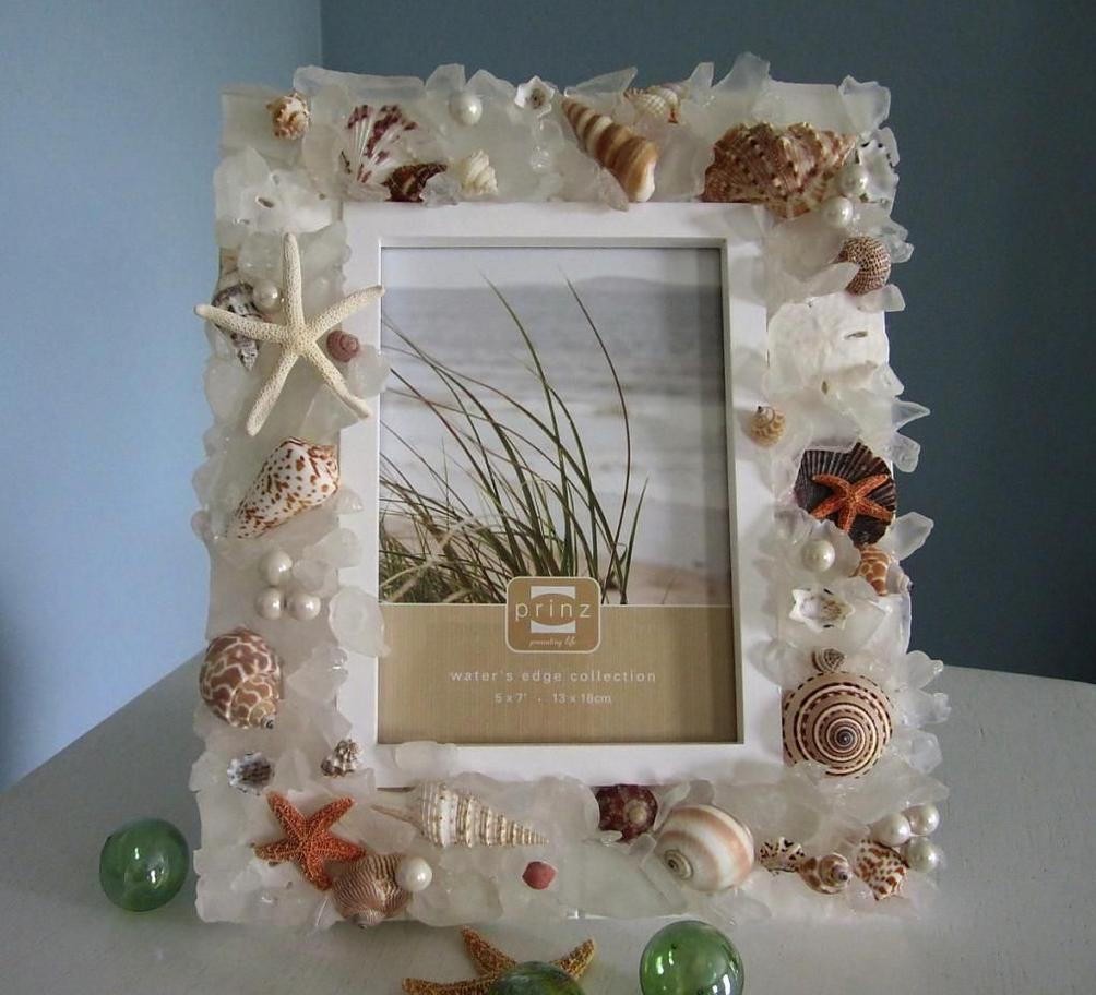 Рамка для фото в морском стиле | portarretratos decorados ...