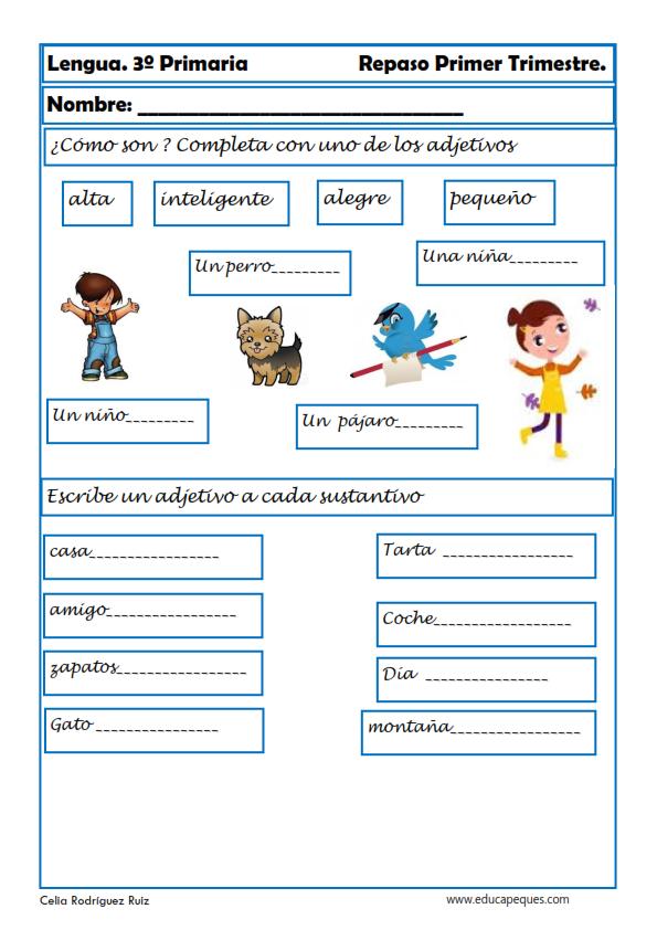 Tareas Ejercicios Y Actividades De Lengua Para Niños De Tercer Grado Español De Escuela Primaria Lectura De Tercero Actividades De Comprensión De Lectura