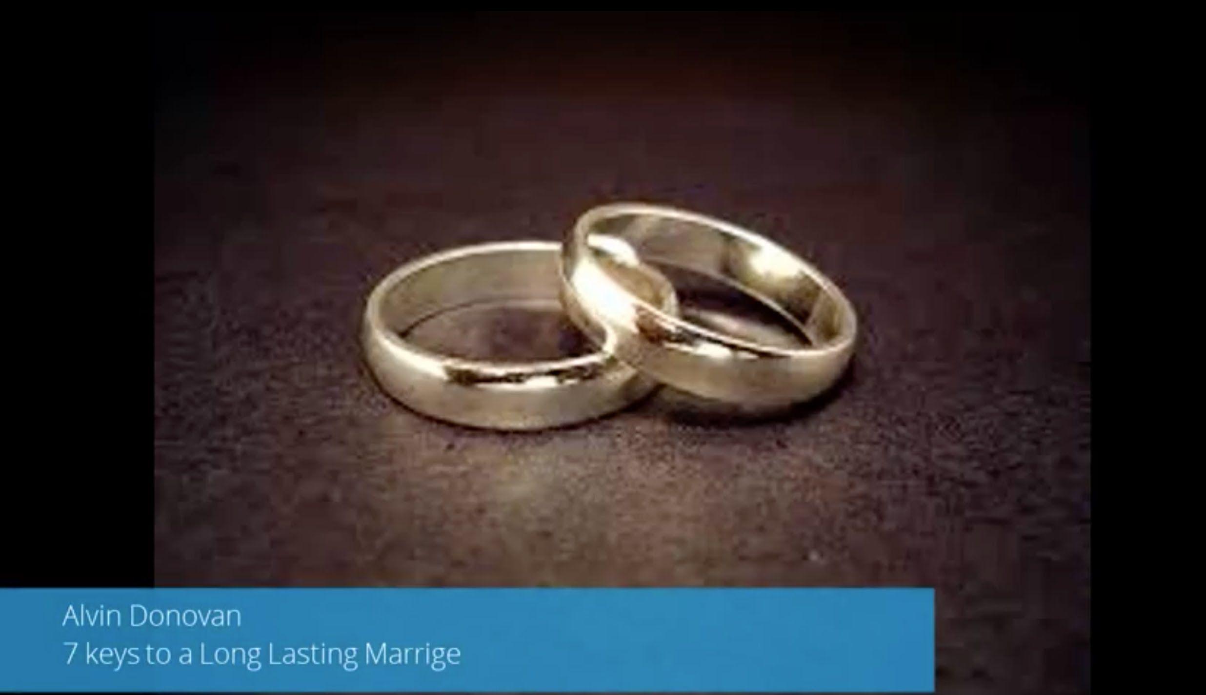 "Seven keys to a long lasting marriage ""Alvin Donovan"