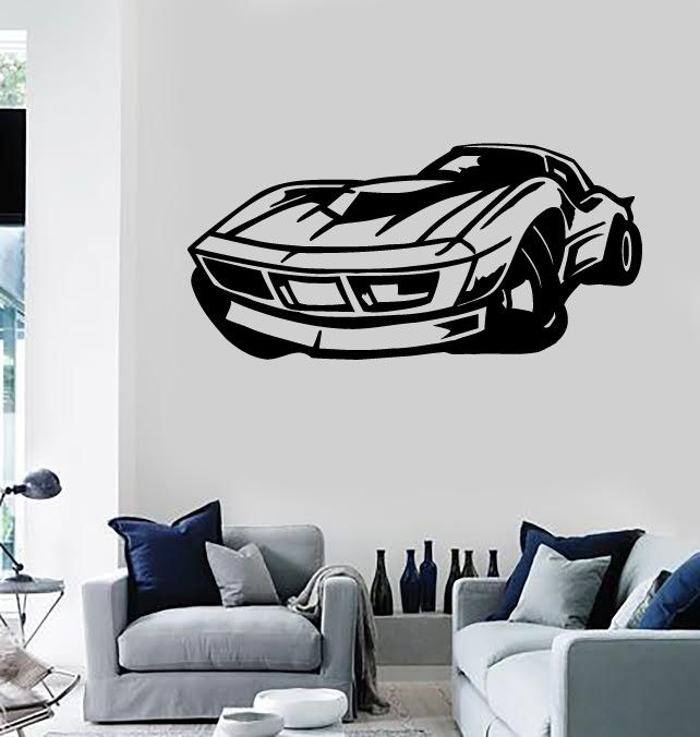 Wall Stickers Vinyl Decal Sports Muscle Car Racing Garage