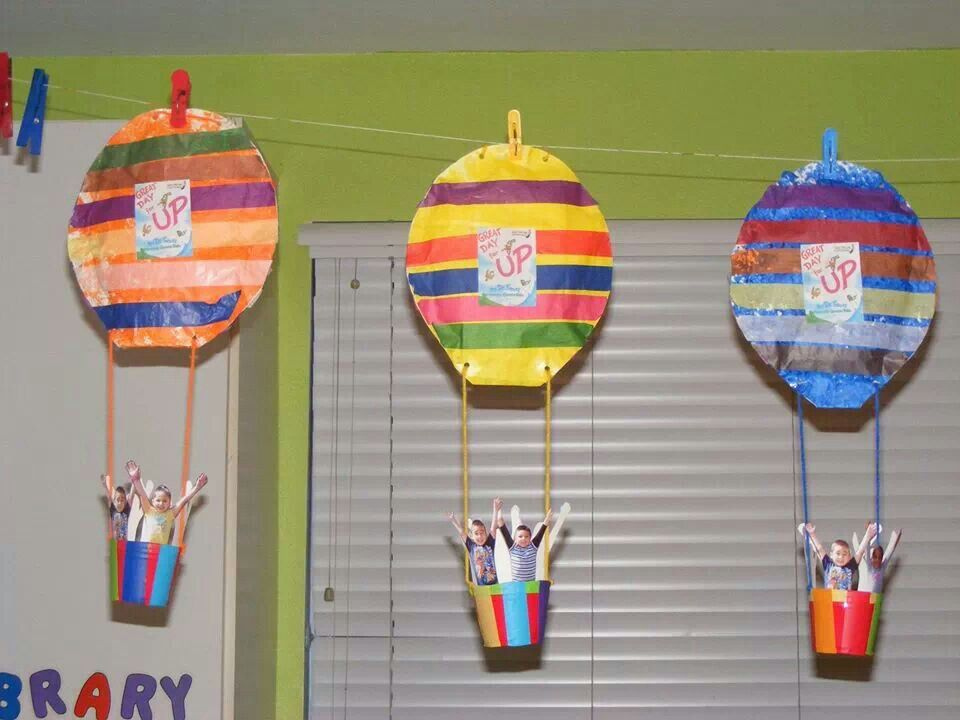 hot air balloon craft dr seuss summer camp pinterest