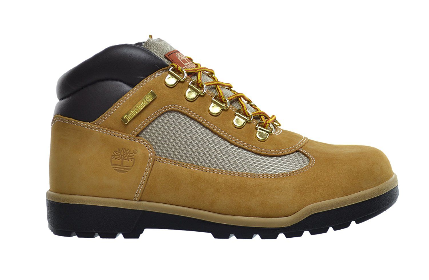 69a9a90bdc3 Timberland Big Kids Leather And Fabric Field Boots Wheat 15945 ...