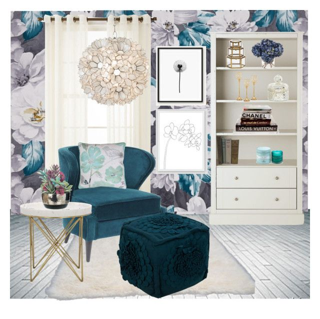 """""""Spring into Florals"""" by mysoulisonthepages ❤ liked on Polyvore featuring interior, interiors, interior design, home, home decor, interior decorating, Ellos, Royal Velvet, nuLOOM and West Elm"""