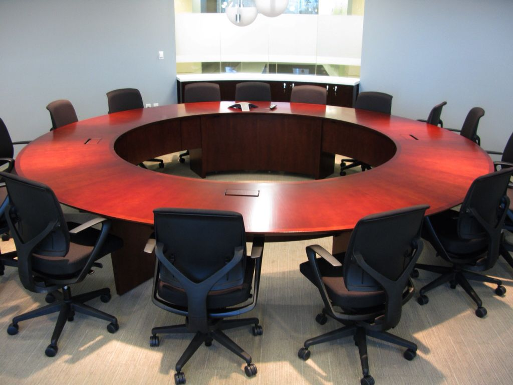 Answer Series Round Table Full And Partial Modesty Panels Hinge Door To