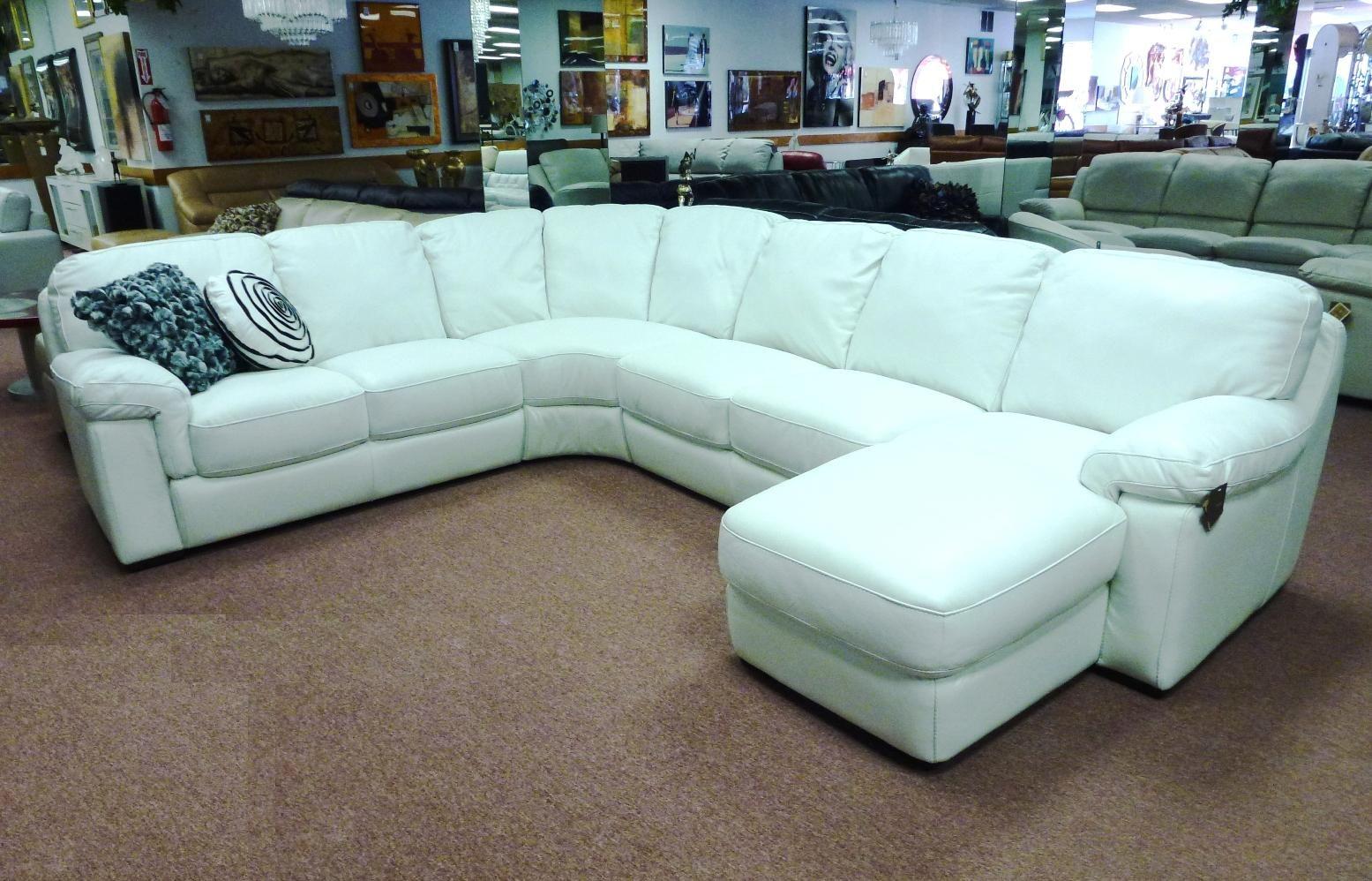 Natuzzi Editions B626 White 4 Piece Leather Sectional Regular Price 4 700 00sale Price 3 699 Leather Sectional White Leather Sofas Leather Sectional Sofa