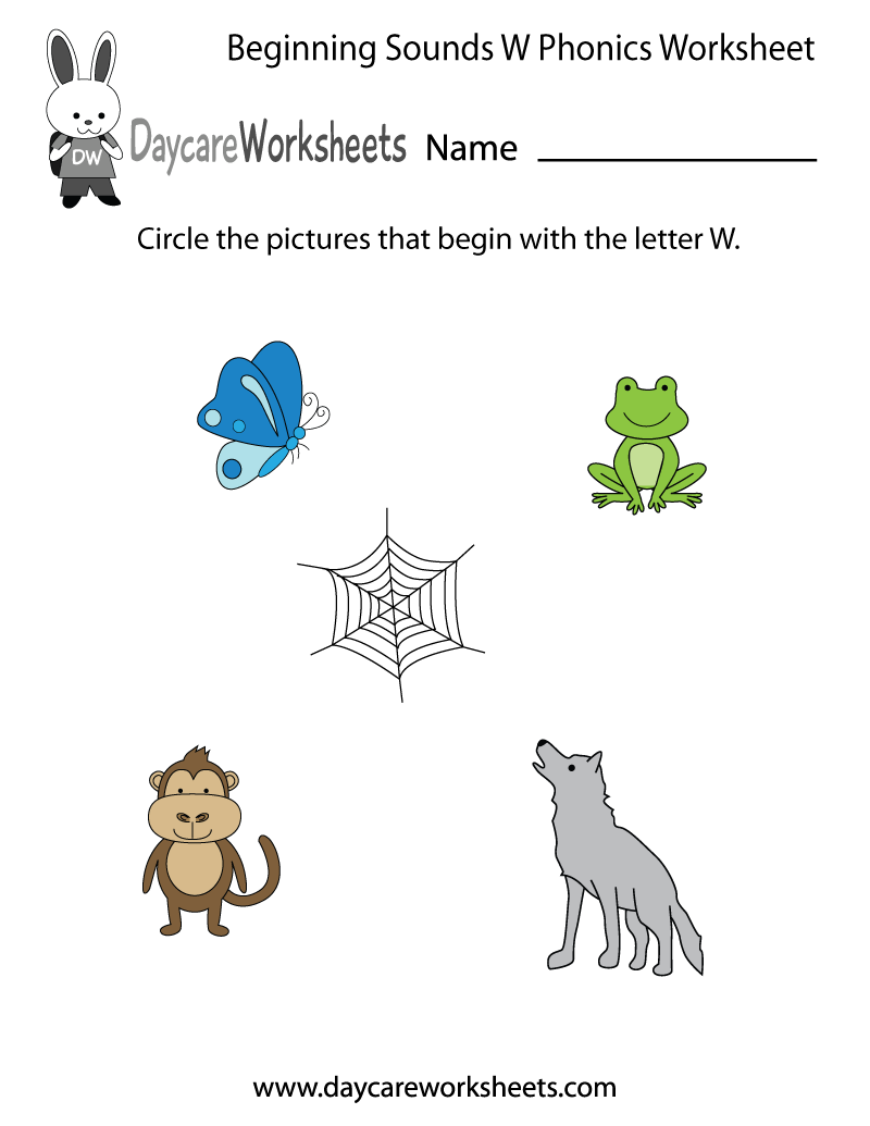 Worksheet Initial Letter Worksheets this letter p phonics worksheet helps preschoolers identify the w beginning of common objects by sounding