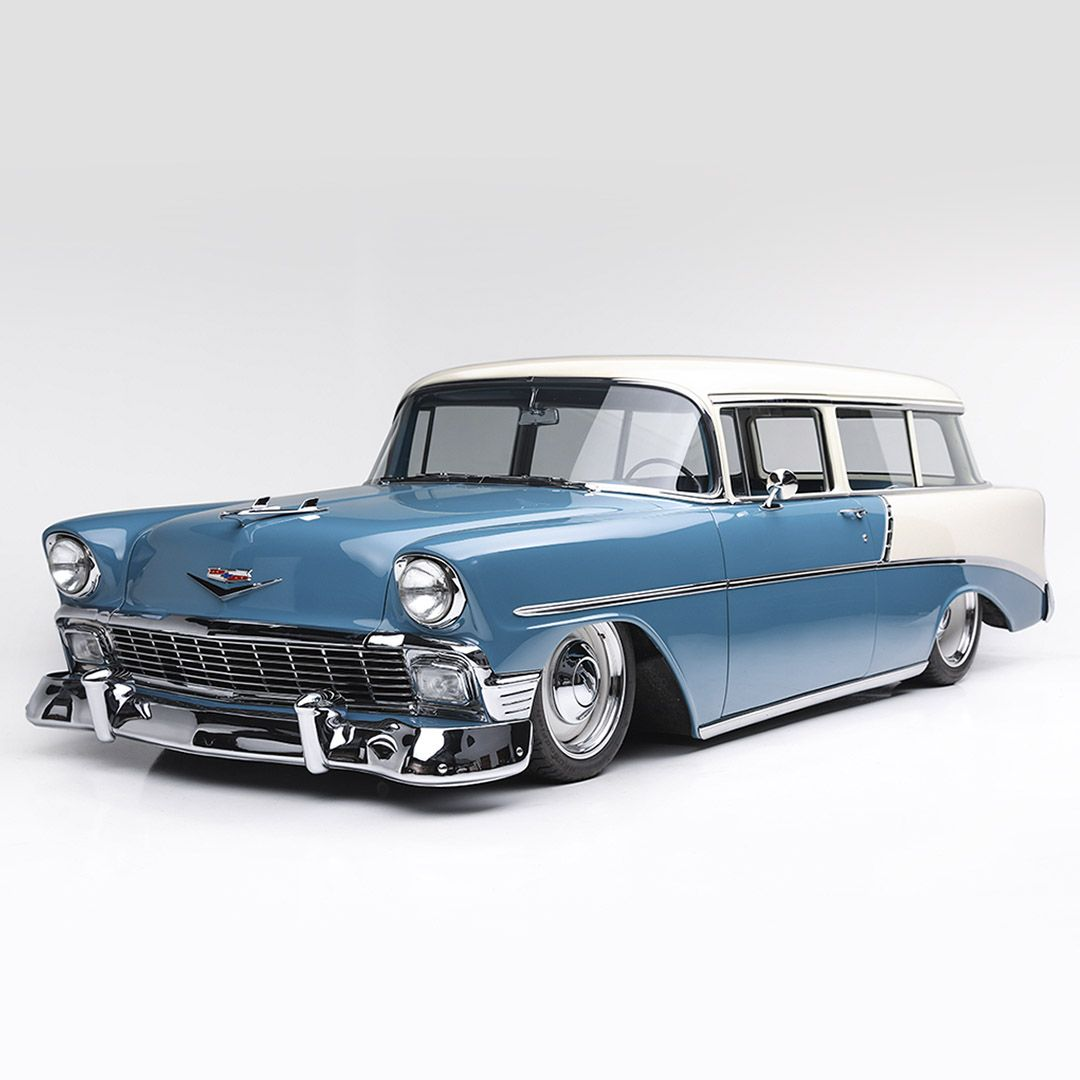 this 1956 chevrolet 210 custom wagon has all the components you could ask for an ls1 fuel injected engine air ride cpp suspension power steering  [ 1080 x 1080 Pixel ]
