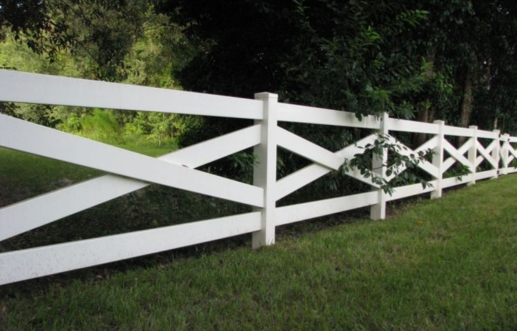 Cross Buck Vinyl Fence Backyard Fences Rustic Fence Modern Fence