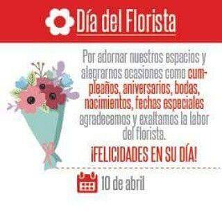 Feliz dia del florista les desea Luna!!!!
