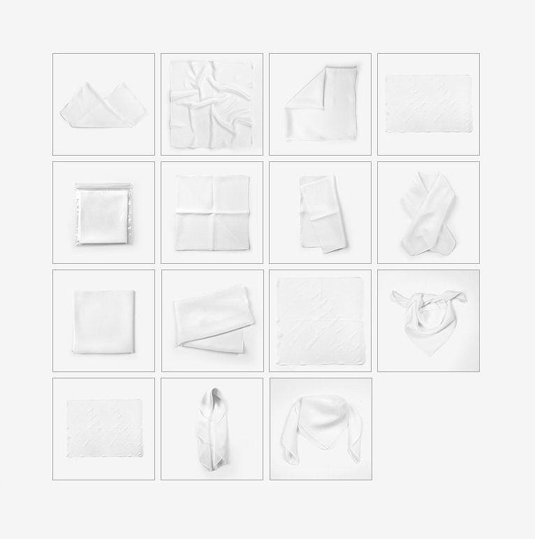Ad: Silk Scarf Mockup Set by Creatsy #mockup #photoshop #silk Pack