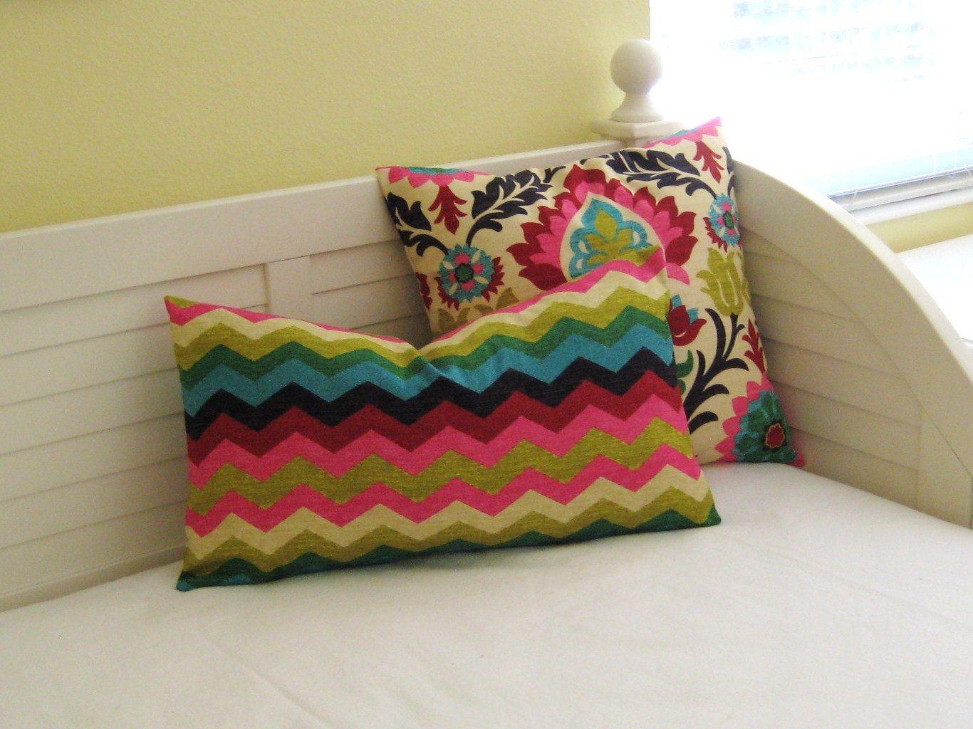 Waverly panama wave in desert flower lumbar pillow cover desert