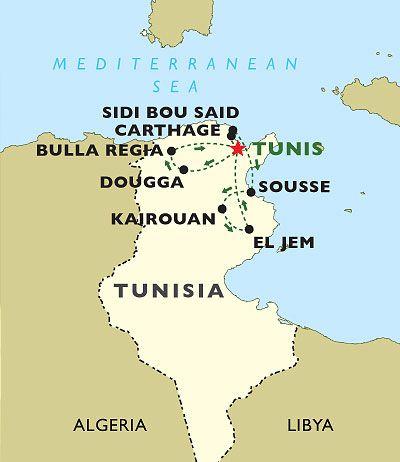 SIDI BOU SAID MAP TUNIS TUNISIA NORTH AFRICA Pinterest North