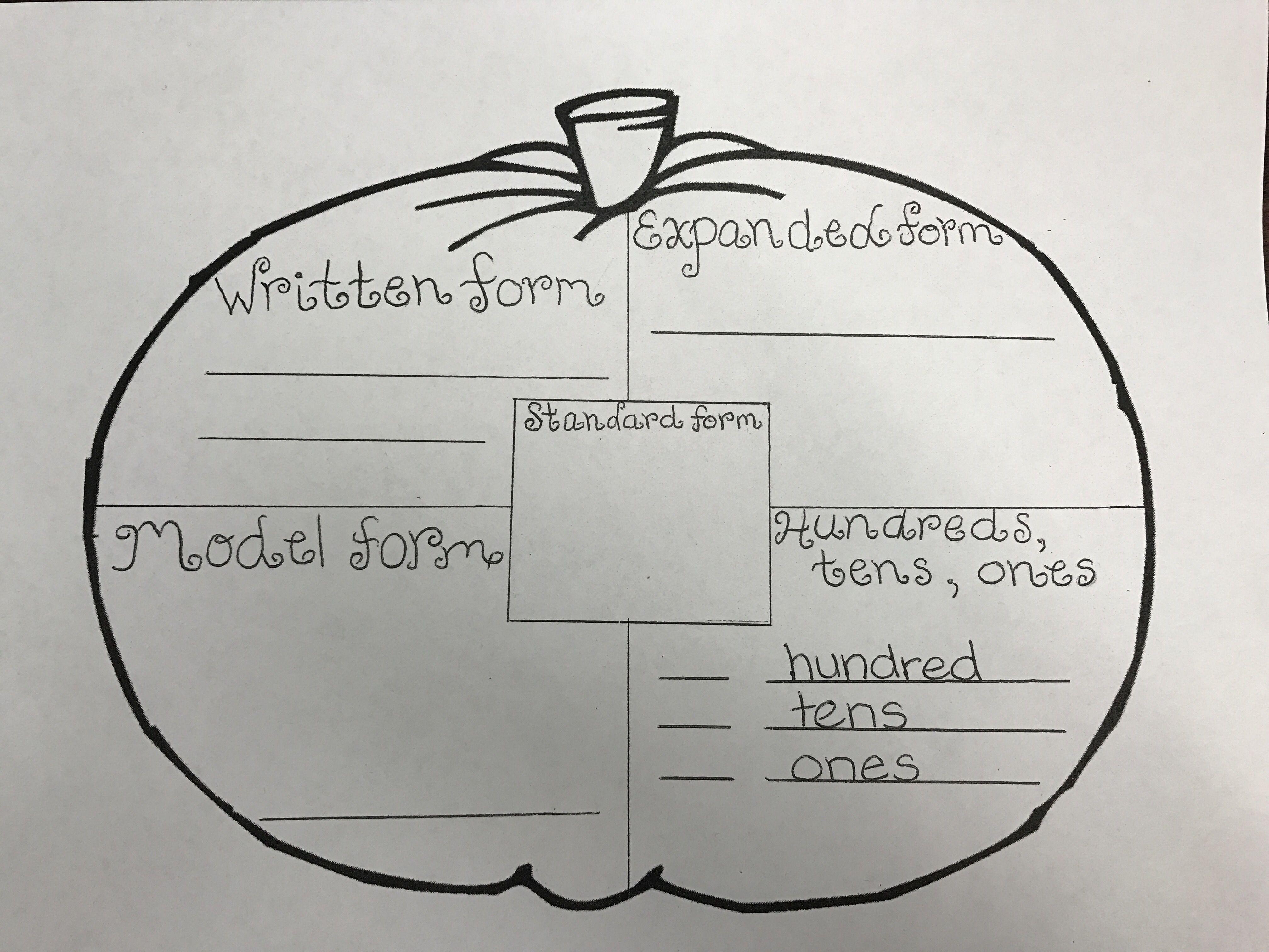Place Value Pumpkin