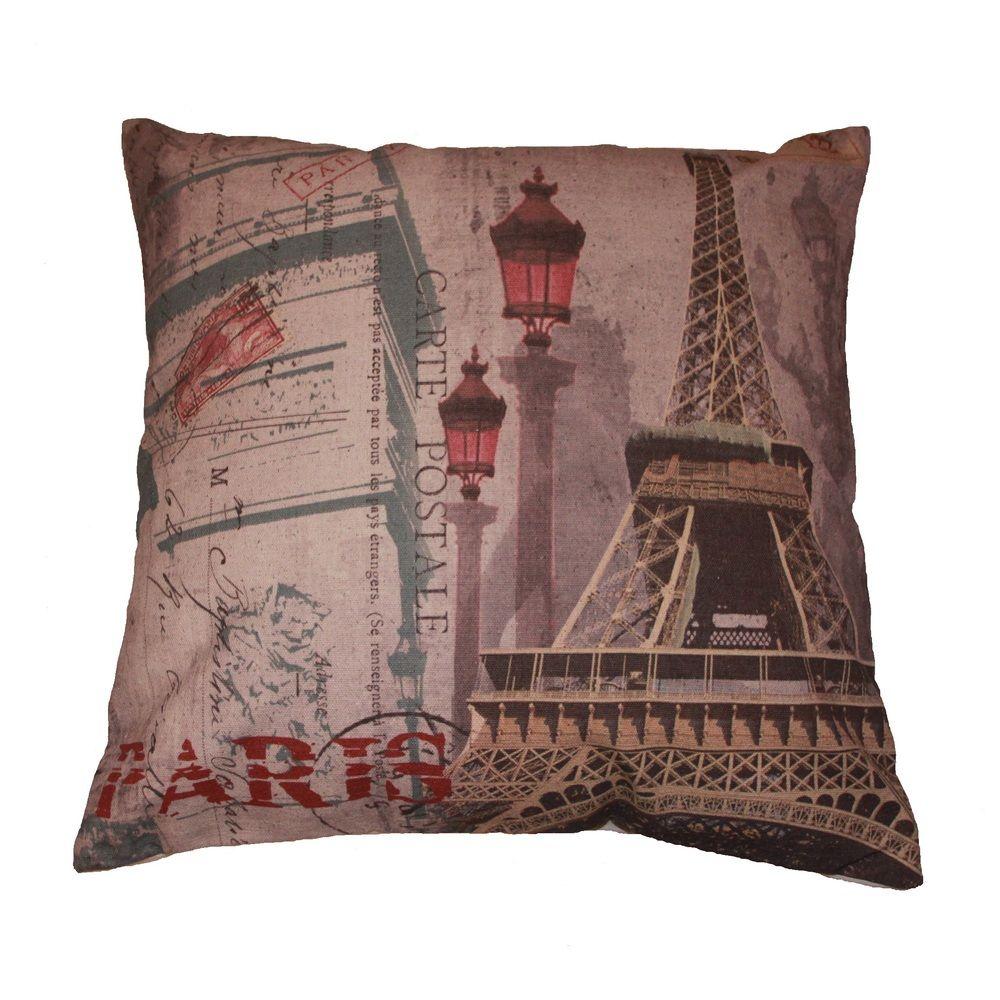 Captivating Paris Carte Postale Decorative Throw Pillow (Paris Carte Postale Throw  Pillow), Multi, Size 16 X 16 (Polyester, Motif) Amazing Ideas