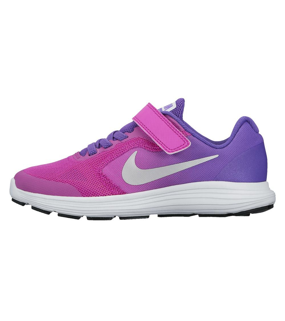 Nike Revolution 3 PS Kids Hyper Violet/Metallic Silver, Kids Footwear, www.