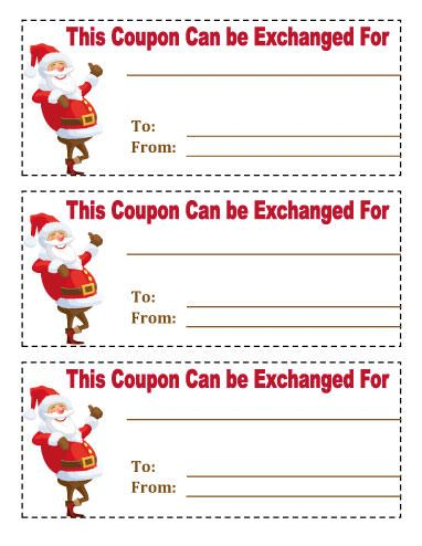 Running out of gift ideas? Download our printable Christmas - free lunch coupon template