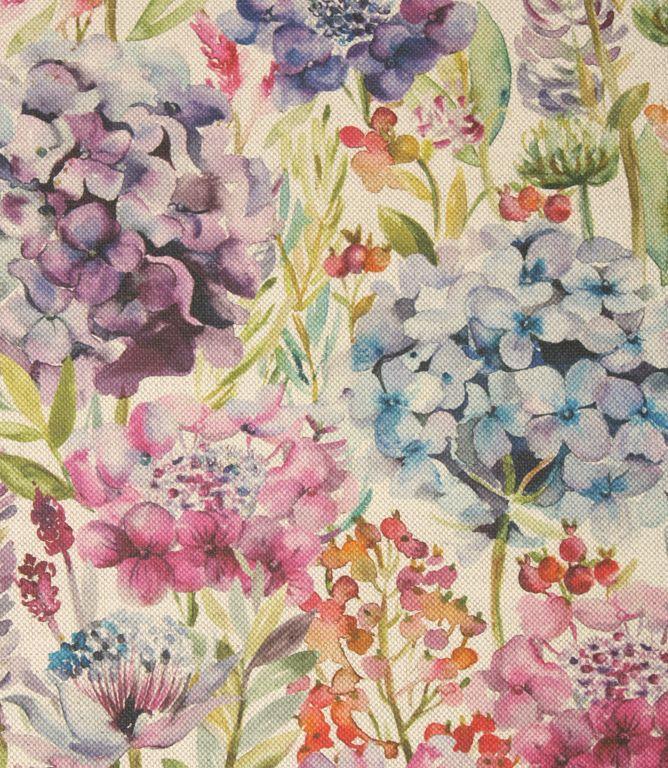 Voyage Decoration Hydrangea Fabric Wisteria Colourful Floral