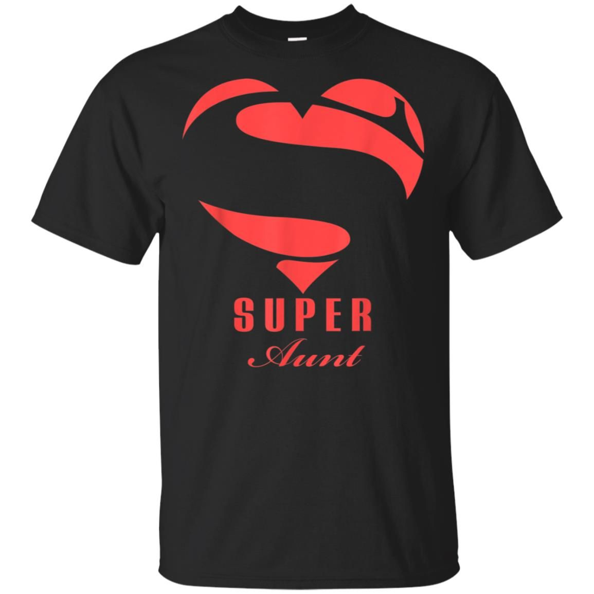Super Aunt Superhero Gift Mother Father Day XL Black T-shirt Hoodie Sweater #superherogifts
