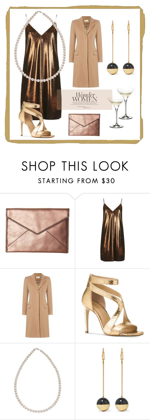 """""""metallic"""" by fashiondeluxe ❤ liked on Polyvore featuring Rebecca Minkoff, Topshop, Michael Kors, Isabel Marant and Riedel"""