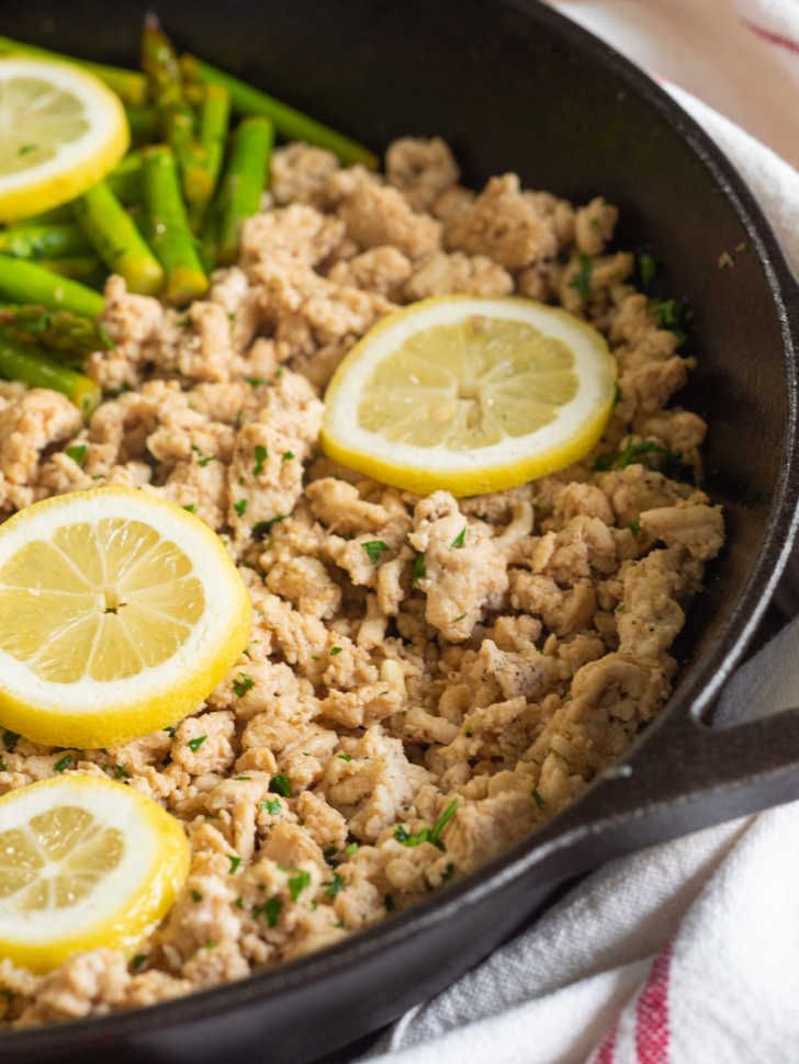 Garlic Butter Ground Turkey Skillet