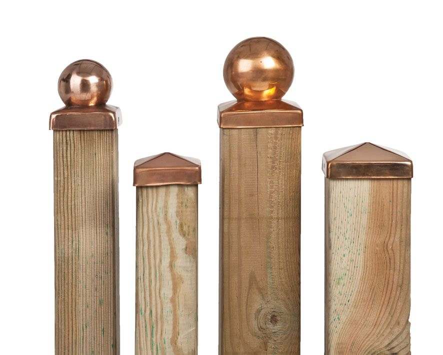 fence post toppers copper gate cap lighting search our backyard 3725