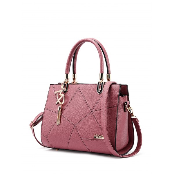 28.08$  Buy now - http://di3bf.justgood.pw/go.php?t=199380102 - Metal Stitching Textured Leather Tote Bag