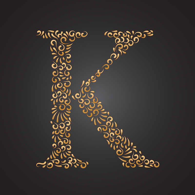 عکس پروفایل حرف K زیبا جذاب و متنوع Lettering Lettering Alphabet Floral Background