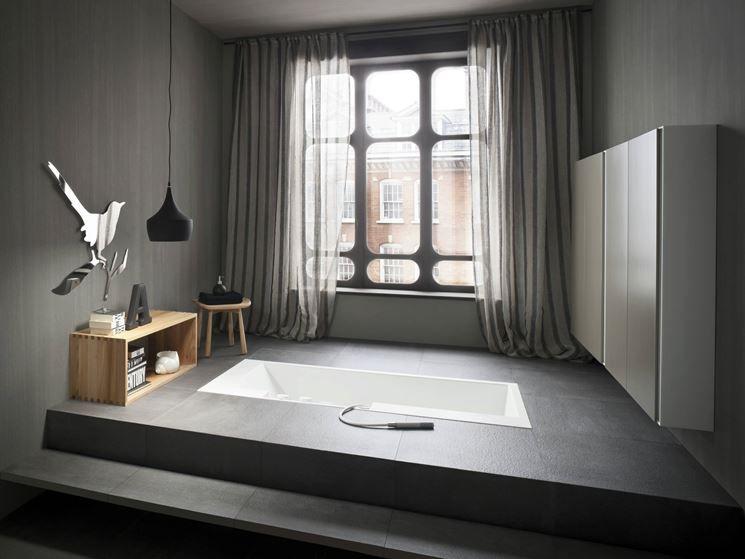 Risultati Immagini Per Minipiscina Interni Incasso Bathtub Design Minimalist Bathroom Inspiration Sunken Bathtub