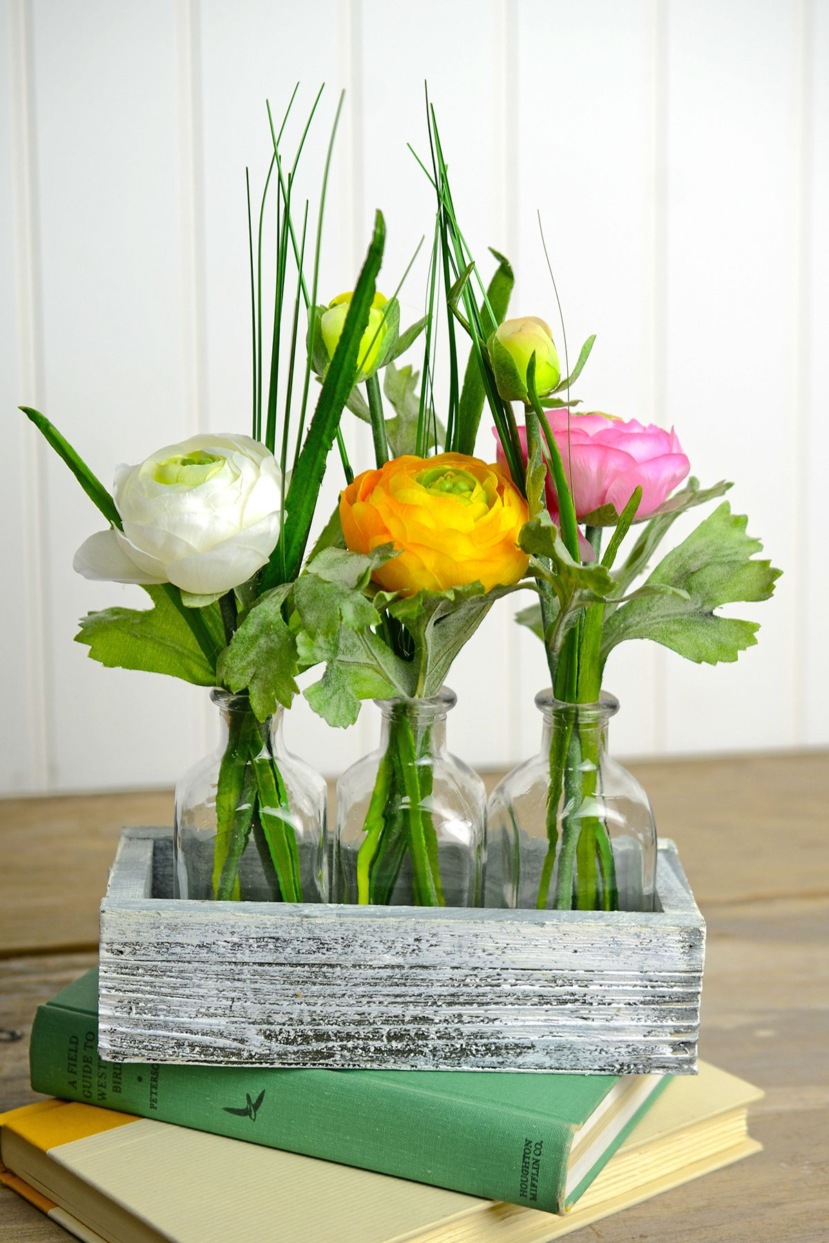 Silk Flowers Sprays Leis Bouquets Wood Tray Trays And Flower