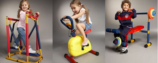 Mini Gym Equipment Kid Friendly Or Are You Kidding Kids Gym Mini Gym Exercise For Kids
