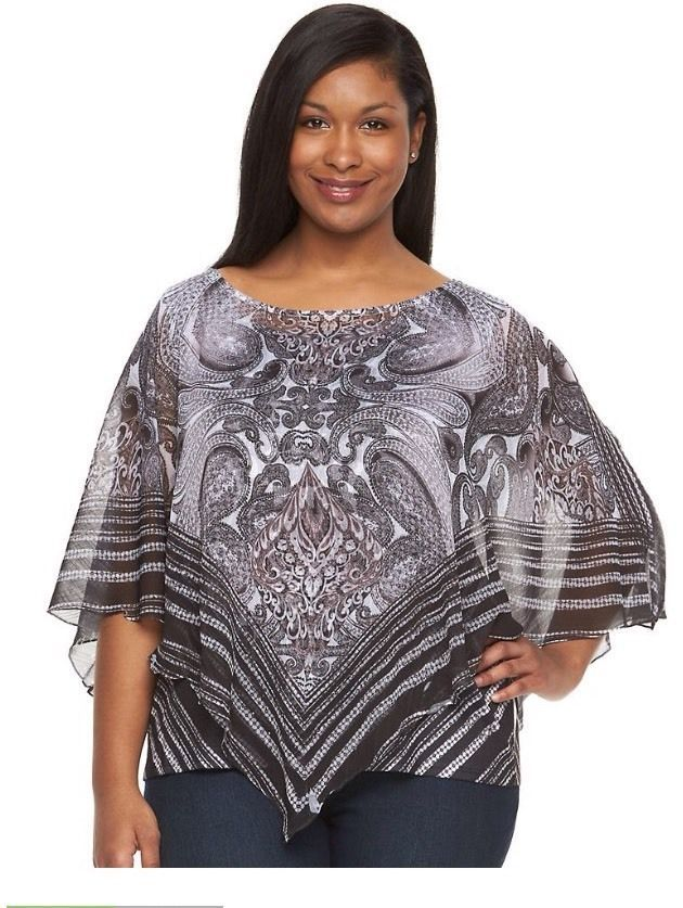 381efe7b751 World Unity women Plus Sz 1X Tank Top Printed With Sheer Cover Embellished  NWT