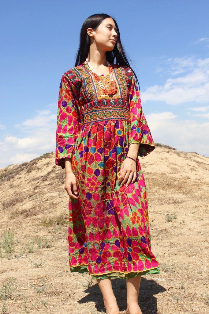 Nomadic Beauty Traditional Handmade Afghan Gown Afghan Dresses