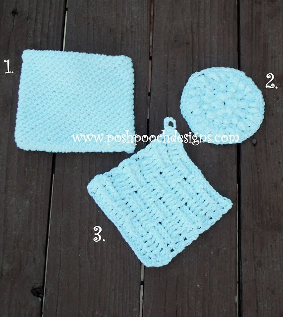 Posh Pooch Designs Dog Clothes: Tuesday Treasury - Cotton Washcloths, Pot pads and More