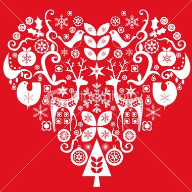 Heart Holiday Stencil Art Jpg 380 380 Christmas Hearts Nordic Christmas Scandi Christmas
