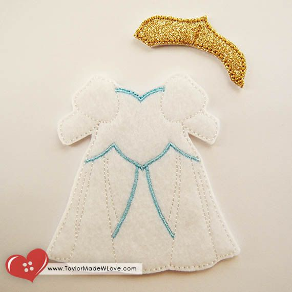 Andrina the Seaside Bride Felt Paper Doll Toy by TaylorMadeWLove
