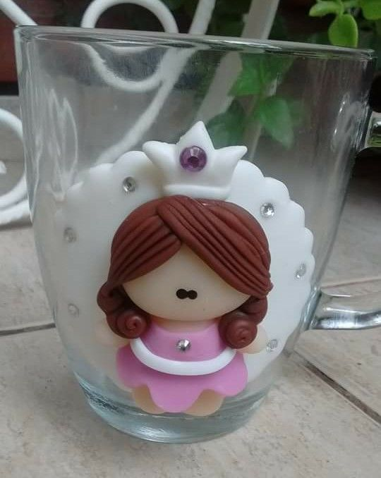 Princesa sobre taza pasta flexible pinterest for Arcilla para ceramica