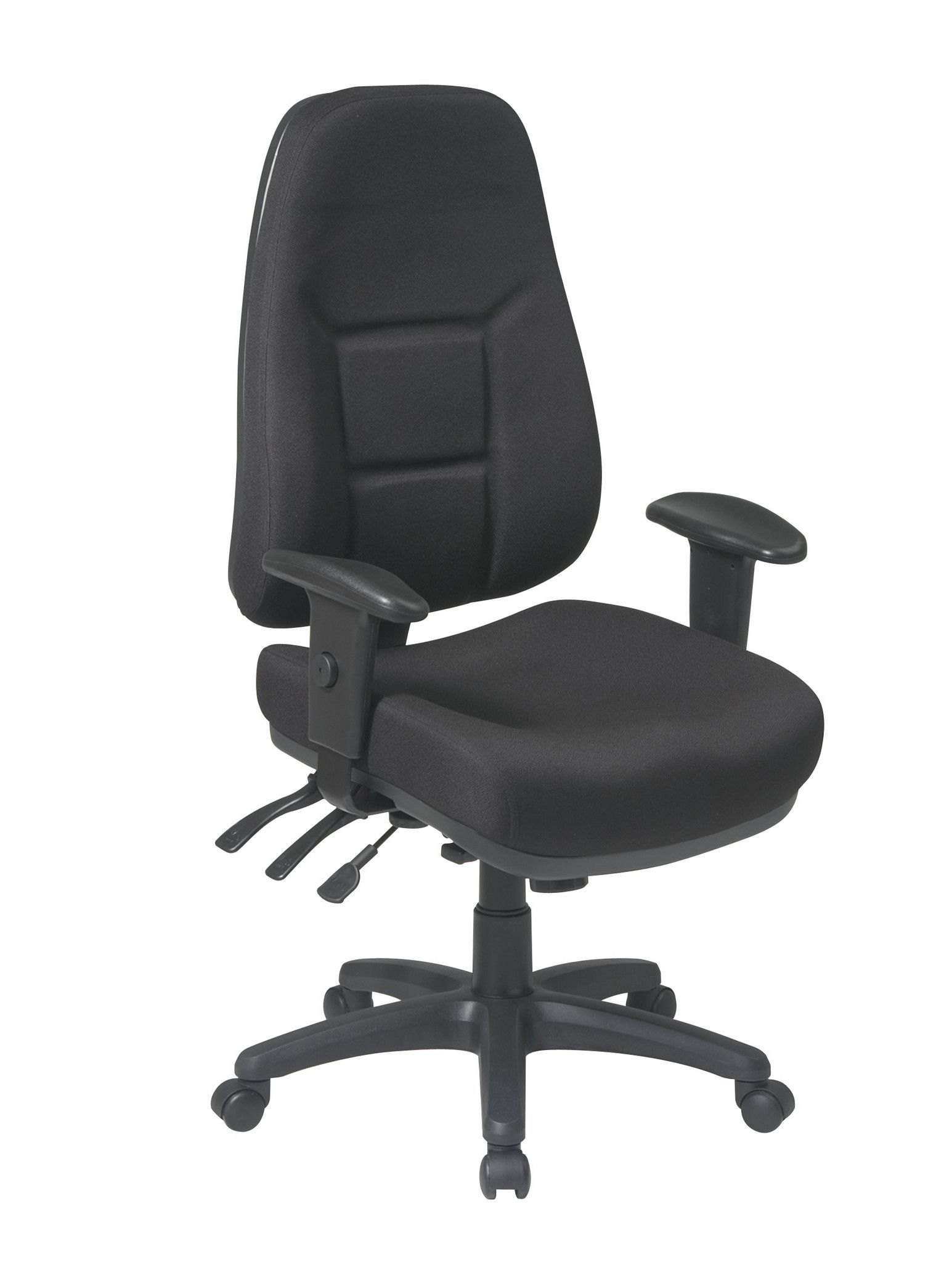 work smart high back multi function ergonomic chair with ratchet