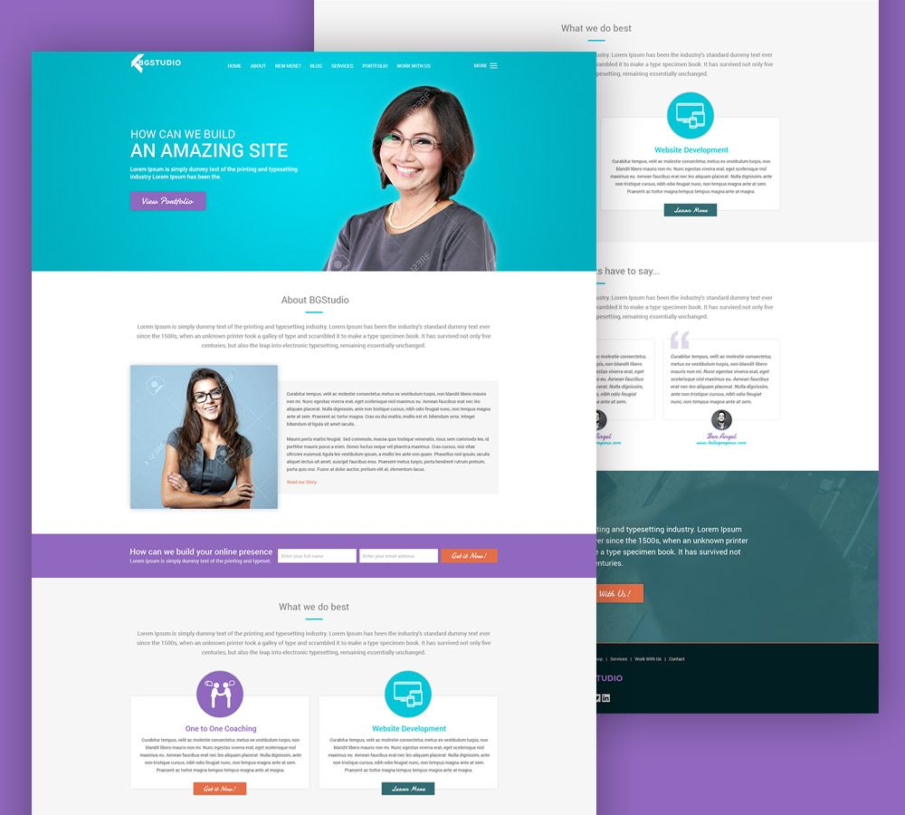 Nice Web Development Company Website Template Free PSD. Download Web ...