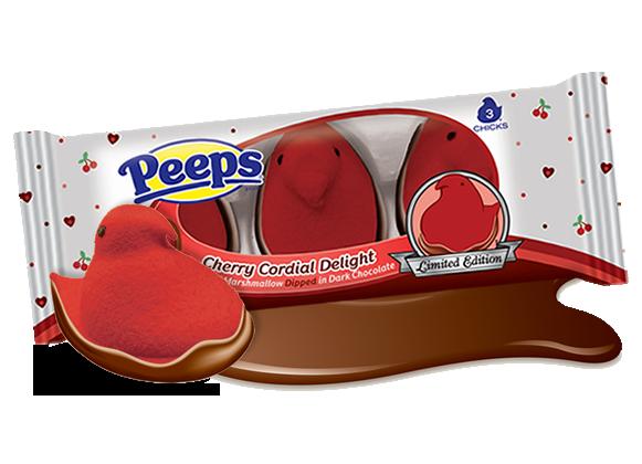 Peeps - Milk Chocolate Dipped Strawberry Crème Flavored Chicks