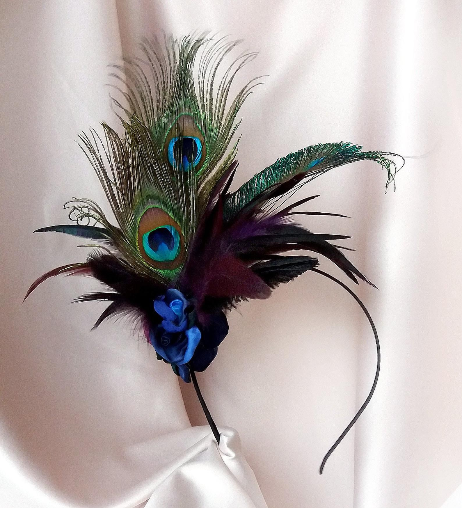 Mariage Serre-tête Plume Chapeau Fleur Mariage Bandeau 1920 S Derby